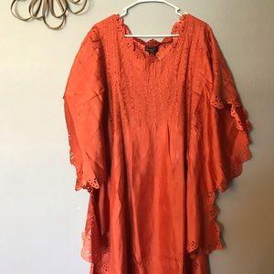 Jerry T Cold Poncho Dress Orange Halloween NWT